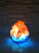 Crystal salt table lamp/ lamps for bedroom /Creative lamp/Warm night light/ lamp