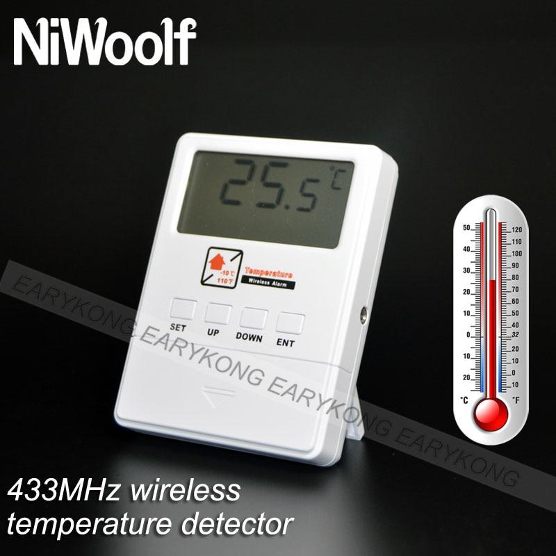 Top SaleTemperature-Detector G33 Range-Alarm Wireless 433mhz for G90B-PLUS/G2B/W2B/.. Alarm-SystemÏ