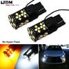 IJDM Car No Hyper Flash 7440 LED W21W T20 LED Bulbs For 2015 2017 Toyota Camry