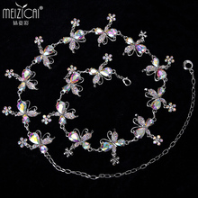 New Bellydance Costume Belly Dance Belt Diamond Chain Women's Decoration Rhinestone all-match