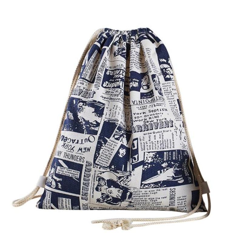 Shopping Travl Bag Women Drawstring Beam Port Backpack Women/Man Backpack Double Shoulder Bags New Design Unisex Bag mochila