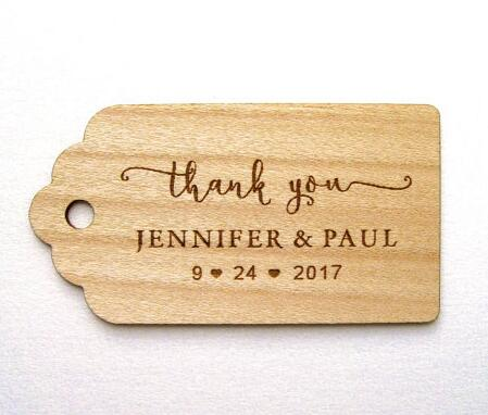 Personalized Rustic Wedding Thank You Wooden Gift Favor Tags Labels Party Engagement Bridal Shower Mason Jars