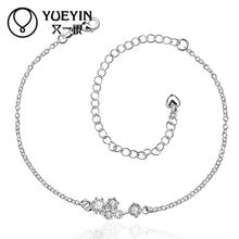 A003-D Heart Anklet Fine Jewelry Anklets for Women Fashion Jewelry   bridal barefoot sandals anklet foot bracelets