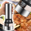 Kitchen Cooking Tools 2 IN 1 Electrical Salt And Pepper Mill Premium Salt Shaker Spice Herb Grinder Spice Mill R20