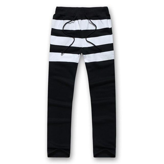 2017 homens da moda stripe impresso sweatpants corredores apered hommes moletom masculino