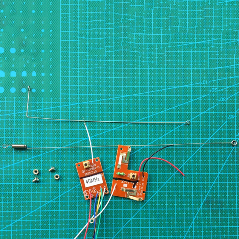 <font><b>RC</b></font> Remote Control <font><b>40MHZ</b></font> Circuit PCB Transmitter&<font><b>Receiver</b></font> Board Radio System 4.5v-6v For Toy Car image
