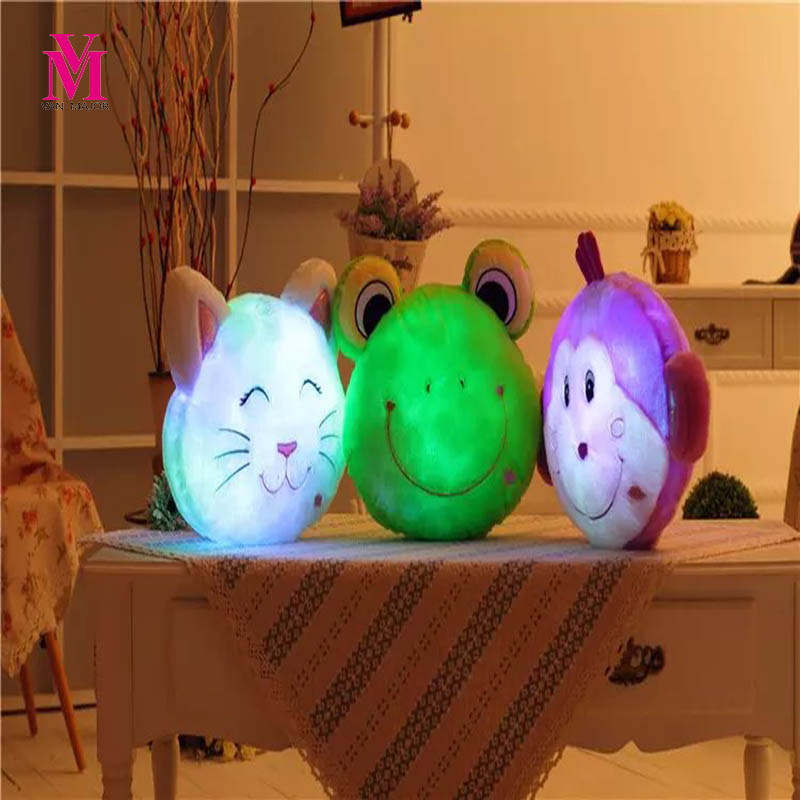 1 PC Glowing Luminous Led Light up Toys Monkey Frog Cat Stuffed Plush Toy Doll Cushion Pillow Birthday Gift high quality pu leather metal buckle luxury handbags women bags designer small women shoulder over bags bolsos de mano female