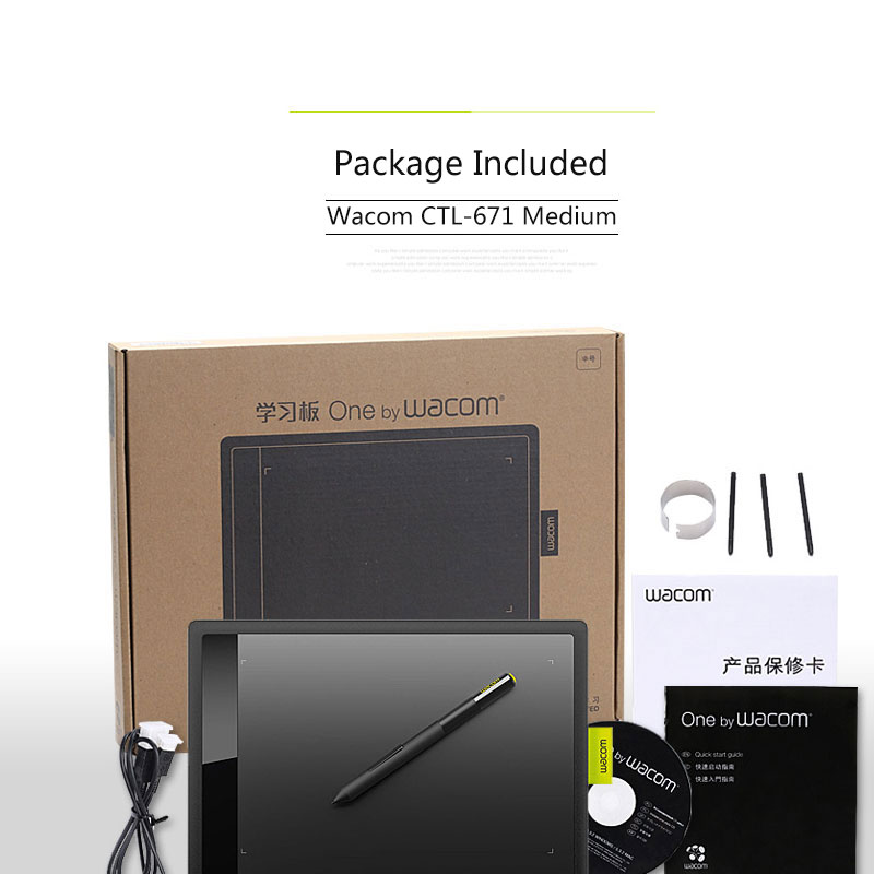 One by Wacom CTL 671 Medium Digital Graphic Drawing Tablet Pad 1024  Pressure Levels-in Digital Tablets from Computer & Office on Aliexpress com  |