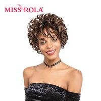 מיס רולה הקצר קרלי נשים שיער סינטטי פאות 91 גרם 1 pc # Fs4-30 Kanekalon פאות 3.5-5 inch פאות שיער 3 צבעים יכול לבחור