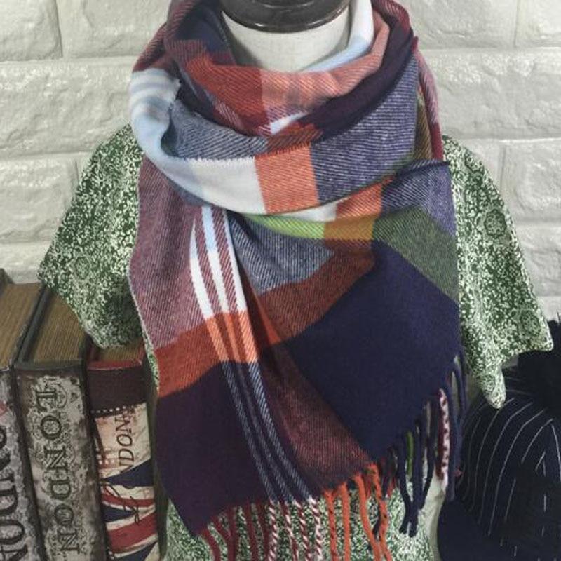 Stoles shawls scarves 2016 font b tartan b font scarf plaid scarf Children tassel new designer