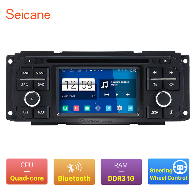 Seicane Android 4.4.4 Bluetooth Navigation System for 1999 2004 Jeep