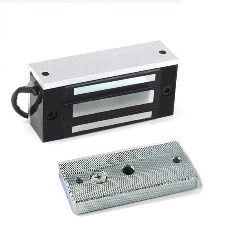 Electronic Door Lock Mini Magnetic Locks 60KG DC 12V/24V 100LBS EM Lock Electromagnetic Lock Automatic Barrier for Takagism Game free shipping 60kg 100lbs single door electromagnetic lock for access controller