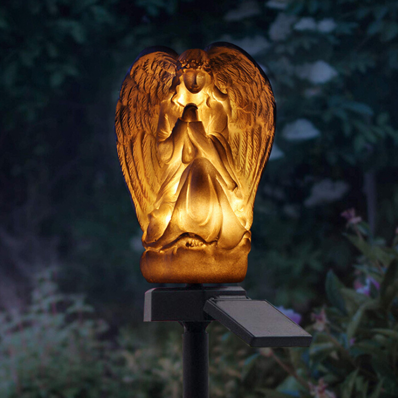 Christian Angel Design Waterproof Night Solar Lights Outdoor Garden Solar Lamp Lantern Lawn Light For Patio Backyard Paths