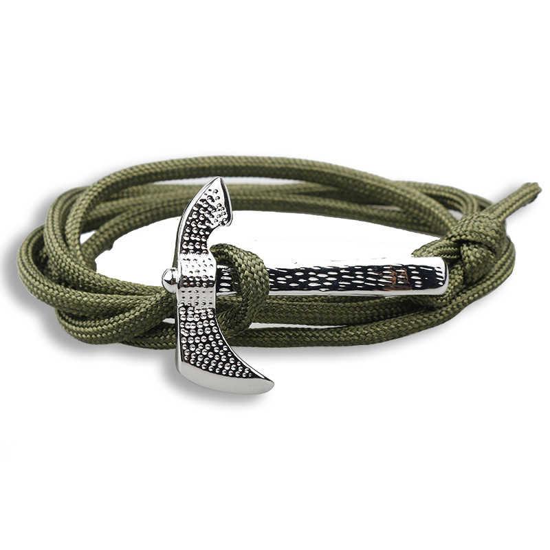NIUYITID クラシック斧のブレスレットジュエリーアクセサリー手作り Paracord 傘ロープ女性ジュエリーギフト Pulseira
