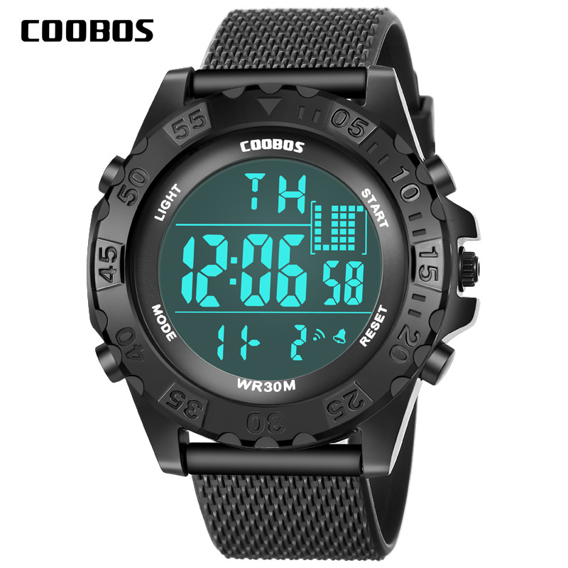 New Arrival Kids Watch Digital Sports Silicone Wrist Watches Children Girls Outdoor Waterproof LED Clock Week Best Gift For Boys