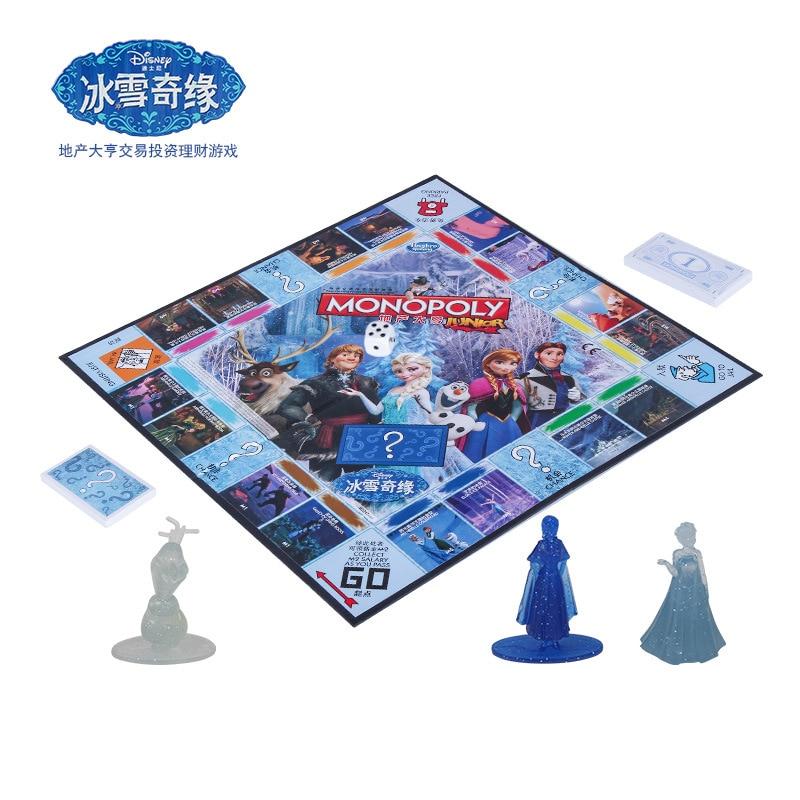 Hasbro Action jouet figurines monopole Frozen party edition famille jeu de société interactif jeux de dames pour enfants jouet pour enfants