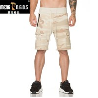 2017 גברים חדשים הסוואה מכנסיים קצרים חדרי כושר פיתוח גוף אורך הברך מותג אופנה מכנסיים מכנסיים מקרית מכנסיים קצר רץ