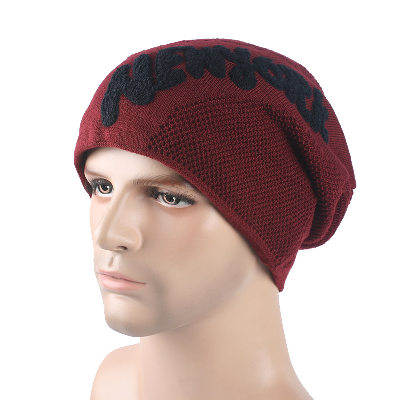 2016 Real New Hats Winter Korean Fashion Beanie Men Hat Snow Caps Knit Hat  Skull Chunky Baggy Warm Skullies touca Gorro-in Skullies   Beanies from  Apparel ... 0b8193fada1
