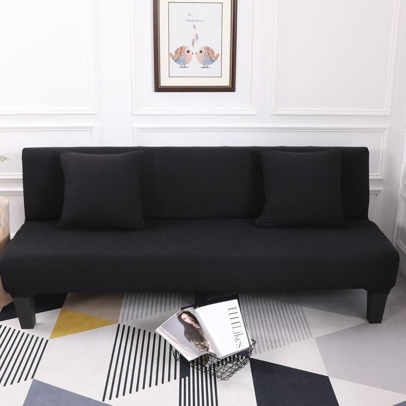 Black Color 1PC Sofa Cover All Inclusive Slip Resistant