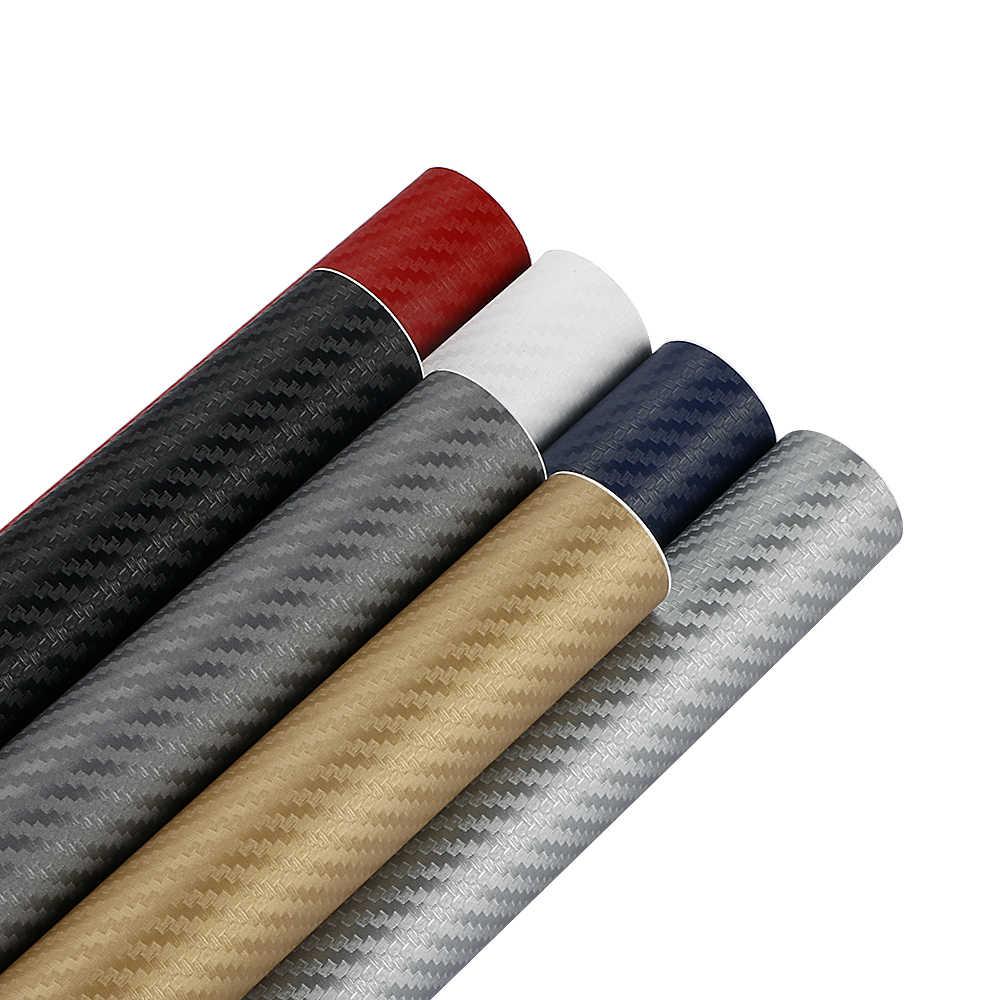 Película de vinilo de fibra de carbono 3D de 200cm * 30cm 3M, pegatinas impermeables para coche DIY, accesorios de rollo para Estilismo de automóviles y motocicletas