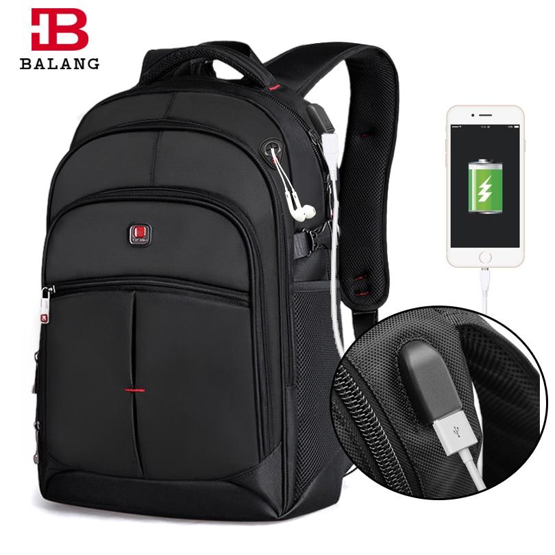 BALANG nouveaux hommes ordinateurs portables d'entreprise sac à dos unisexe à la mode ordinateur portable sacs à dos mode sac d'école pour adolescents garçons filles sacs de voyage