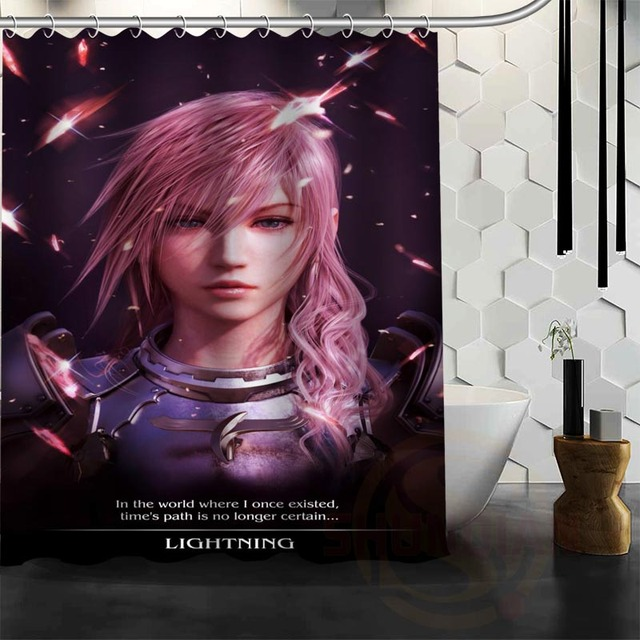 Best Nice Custom Final Fantasy Shower Curtain Bath Waterproof Fabric For Bathroom MORE SIZE W