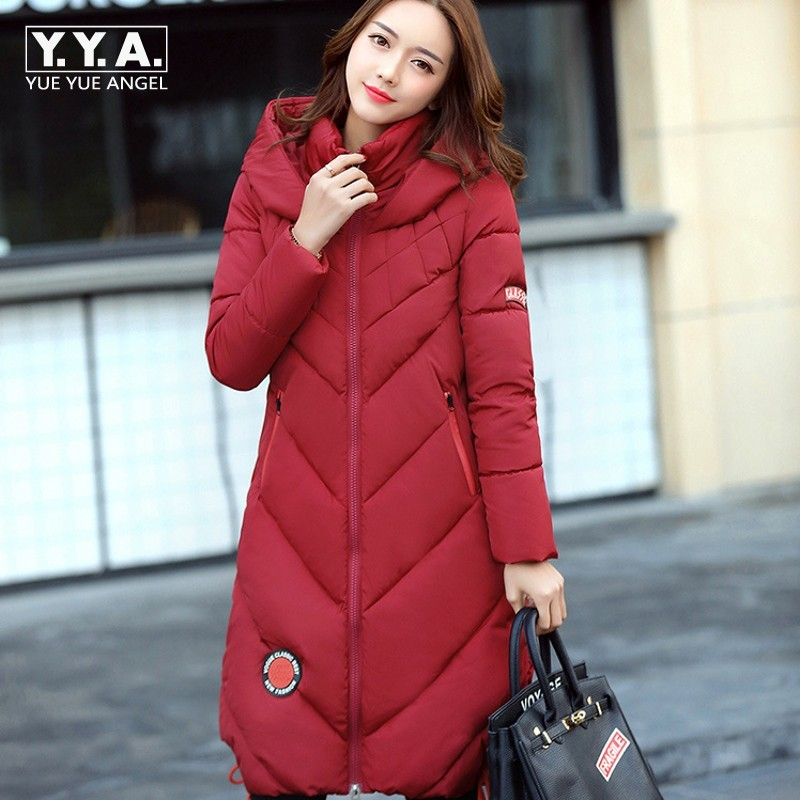 Winter Jacket Women Hooded Windbreaker Thick Warm Long Style Coat Female Loose Fit Korean Fashion Overcoats Zipper Outwear Coats kuyomens 2017 women winter jacket coat cotton hooded thick warm loose women basic coats bomber jacket female autumn women coat