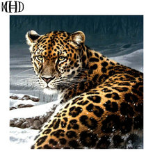 Full & Round Diamond Painting Leopard Diamond Painting Big Cat Crystal Decoration 5D Diamond Cross Stitch Handmade Hobby