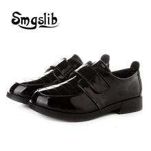کفش بچه گانه کفش چرمی تخت کفش سیاه و سفید قلاب و حلقه با کیفیت بالا کفش ورزشی عروسی کفش کودکان گاه به گاه انگلیسی