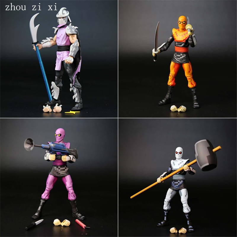 4pcs-lot-classic-anime-characters-the-shredder-the-soldiers-action-figures-dolls-hands-and-feet-can-move-toys-for-children