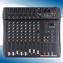 Professional 8 Channel DJ Audio Bluetooth USB Mixer Power with Amplifier Mixer Double Effects Powered Mixer