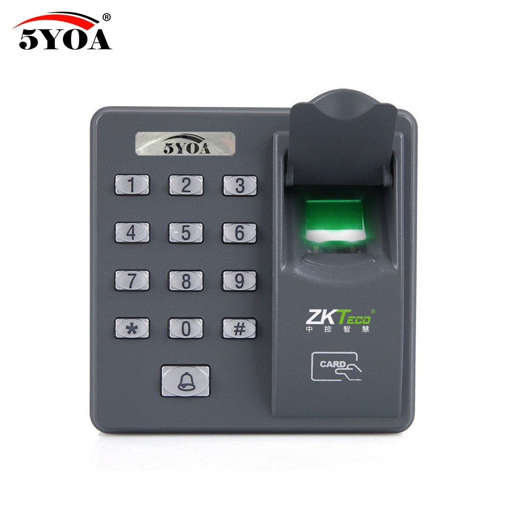 Fingerprint Password Key Lock Access Control Machine Biometric Electronic Door Lock RFID Reader Scanner System Device цены