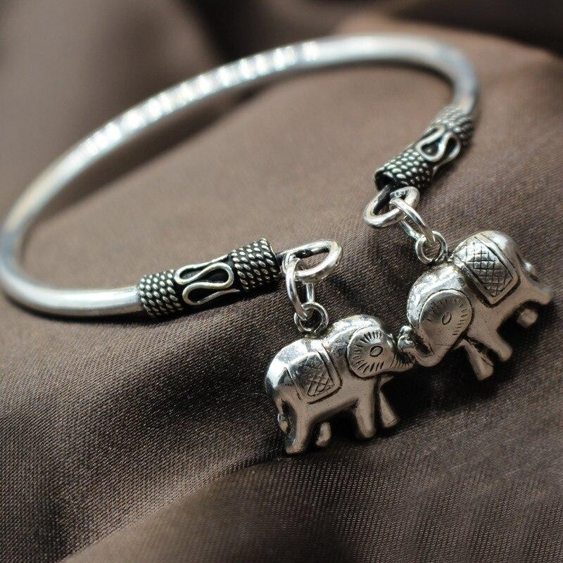 Nuovo Stile Belle S925 Braccialetto Dargento Delle Donne Bella Elephant Braccialetto Regolabile 55mmNuovo Stile Belle S925 Braccialetto Dargento Delle Donne Bella Elephant Braccialetto Regolabile 55mm