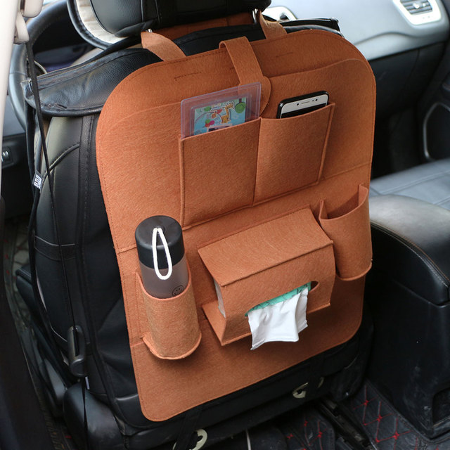Color My Life 1PC Car Storage Bag Universal Box Back Seat Bag Organizer Backseat Holder Pockets Protector Auto Accessories