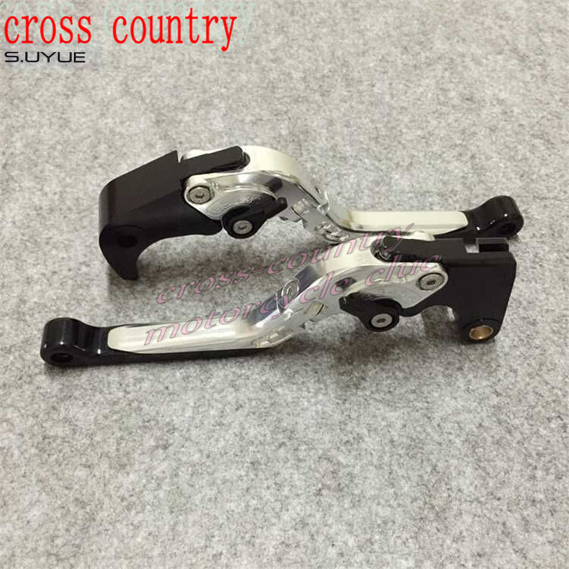 ФОТО S.UYUE Motorcycle Extending Brake Clutch Levers extendable CNC Aluminum For GSXR1000 05 06 GSXR600 750  06-10