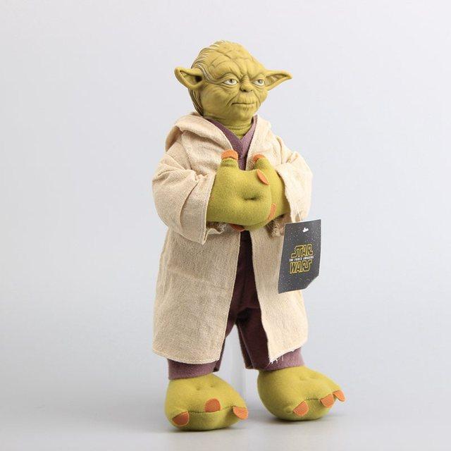 ef14526de56 Freee Shipping Star Wars Character Yoda Plush Toy Yoda Soft Stuffed Doll Toy  with Plastice Head