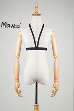 Max Spri 2017 Hot Sexy Regular Bandage Elastic Bra Straps Cross Bra Crop Top Solid Black