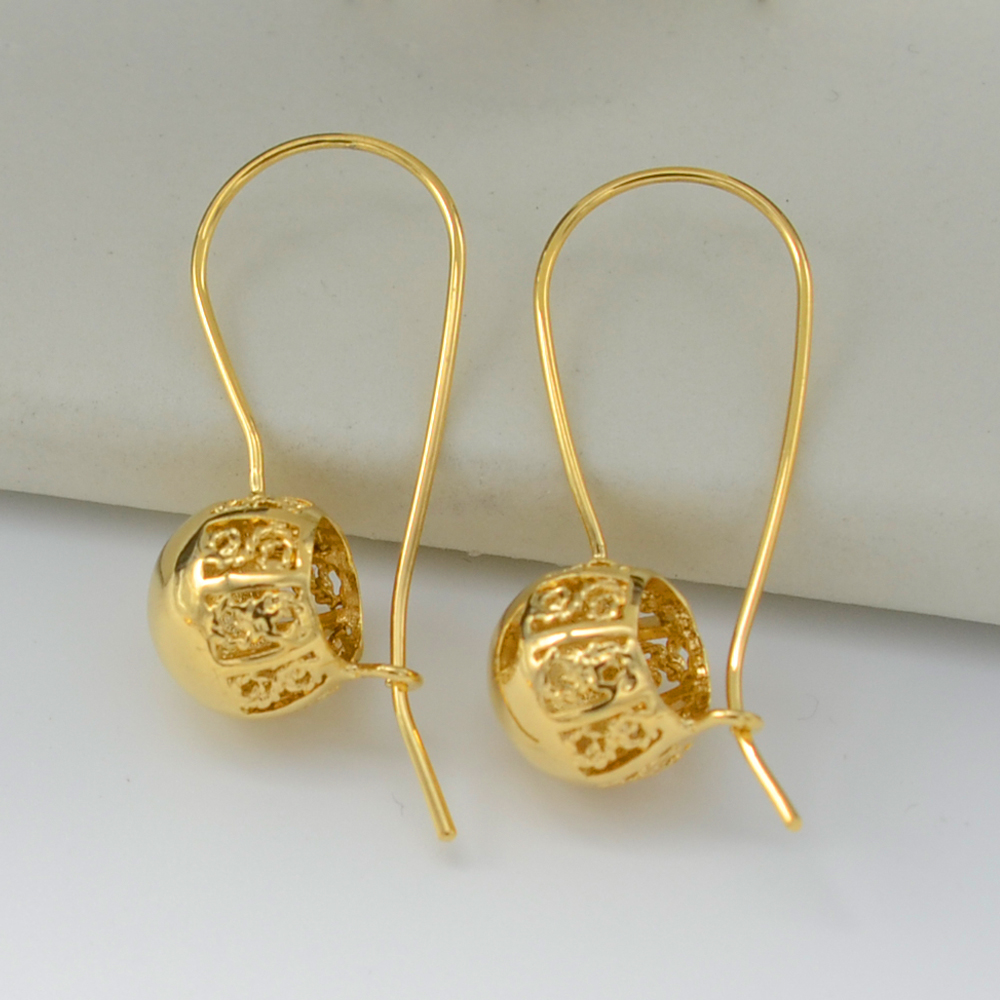 Model Buy 14K Gold Plated Globular Ball Stud Earrings Women Jewelry