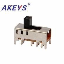 цена на 20PCS SS-23F10 2P3T Double pole three throw 3 position slide switch 8 solder lug pin verticle type with 4 fixed pin