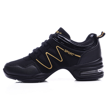 Maultby Women Black Yellow Dance Shoes Jazz Hip Hop Shoes Salsa Sneakers for Woman Platform Dancing Ladies Shoes #DS4024B