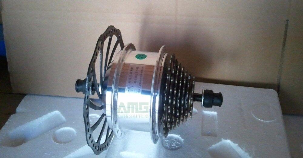 350 W 24 V/36 V/48 V haute vitesse sans brosse petit moteur à courant continu pour bricolage modifié Lithium vélo haut de gamme VTT avec frein à disque
