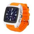 X01 Reloj Inteligente Android Reloj Teléfono de Ayuda 3G SIM Card Cámara Podómetro Monitor Del Ritmo Cardíaco Con 600 mah de La Batería