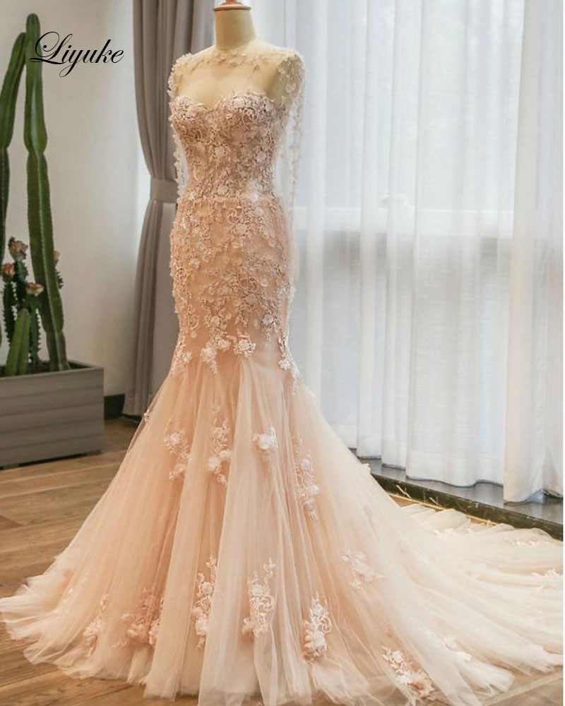 Elegant Sweetheart Mermaid Wedding Dresses Natural Waistline With ...