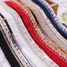 3 см ширина шитья украшения хлопок бахрома кисточка отделка тонкий шнурок Плетеный блесток Стразы ленты