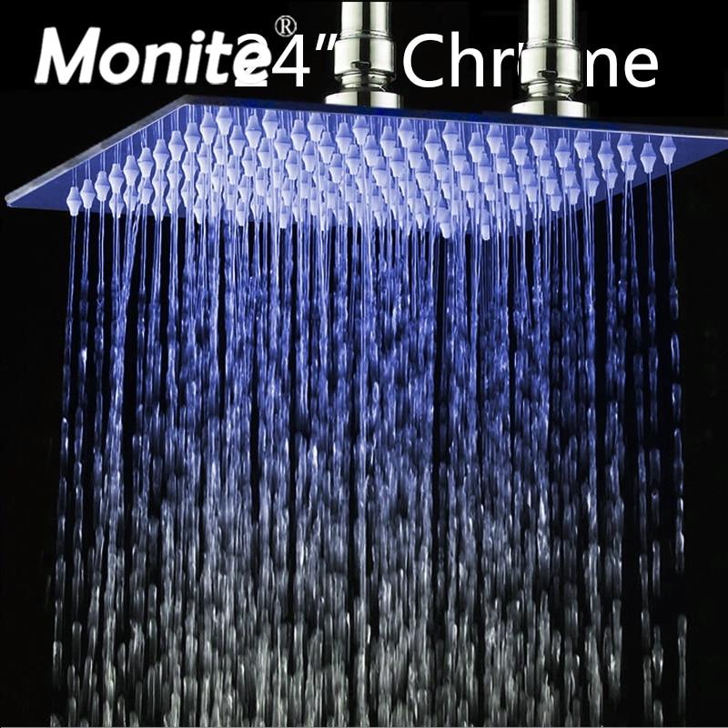 24 Inch Rain Shower Head B8136 Stainless Steel Shower Head Bathroom Ultra-thin Shower Head rain siemer soovin sulle head