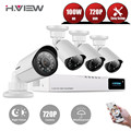 HD 4CH CCTV System 720P DVR 4PCS 720P  IR Waterproof Outdoor Video Surveillance Security Camera System 4CH NVR Kits H.View