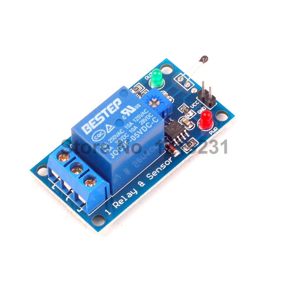 цены  1PCS 5V Thermal Sensor Module 1 Channel Relay Module Combo Module Thermistor Temperature Sensor Module