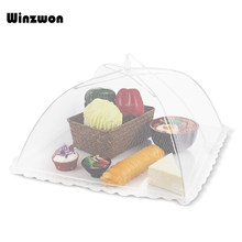 18inch Household Food Umbrella Cover Picnic Barbecue Party Anti Mosquito Fly Resistant Net Tent For Kitchen Lunch Dinner Table(China)
