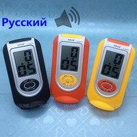الروسية يتحدث المنبه شاشة lcd الرقمية الأصفر الأسود و البرتقالي