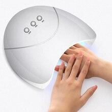 Woobela Auto sur 24W lampe à ongles Gel vernis à ongles sèche LED lampe UV acrylique Nail Art polymérisation lumière électrique sèche ongles